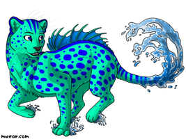 Water kitty by sparkle377