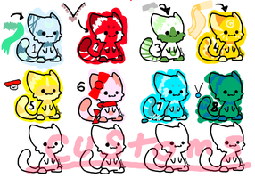 MOAR ADOPTABLES! (CATS!) by Crazyfox346