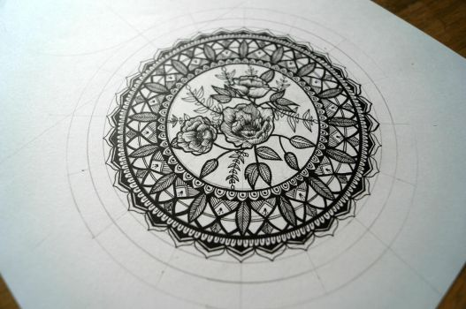 Flower mandala by zzjkaa