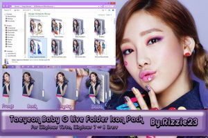 Taeyeon Baby G Live Folder Icon Pack by Rizzie23