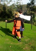Naruto and Sasuke Photoshoot by Khiorii