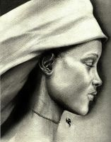 Profile of African woman by cartes10