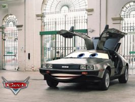 Pixar Cars style Delorean by DBXMe2