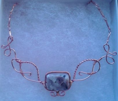 Semi Precious Copper Stone Necklace by ChristinasWerkstatt