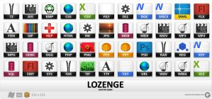 Lozengue Icons by Gurato