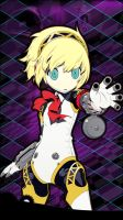 Aigis - Persona Q iOS Wallpaper by seraharcana