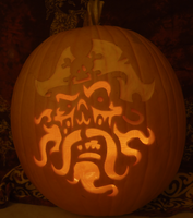Ghost Pirate Pumpkin - Lit Version by johwee