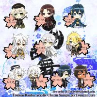 Touken Ranbu Acrylic Charms Preview by DeathHime