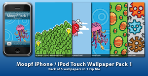 Moopf iPhone Wallpaper Pack 1 by moopf