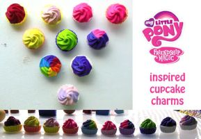 My Little Pony Friendship is Magic Clay Cupcakes by angrytanuki