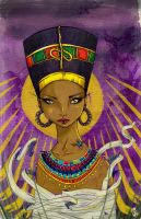 Nefertiti and Aten by cryssy