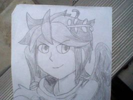 1st Time Drawing: Dark Pit by 5DsPeach