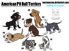 Pit Bull Puppies ---ADOPTED--- by MartoonsZoo