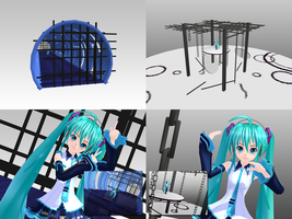 _MMD_ Tunnel and Chain stage by xXHIMRXx