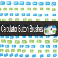 Calculator Button Brushes by Solarmousetrap
