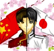 APH: China x Japan by wickedgentleman