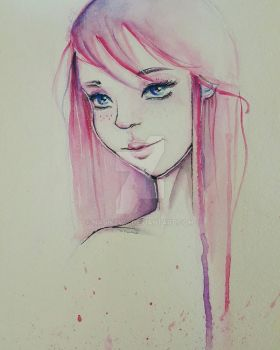 Pink Haired Beauty~ by NasiK2424
