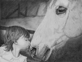 Girl Kissing Horse by TheRoamingArtist