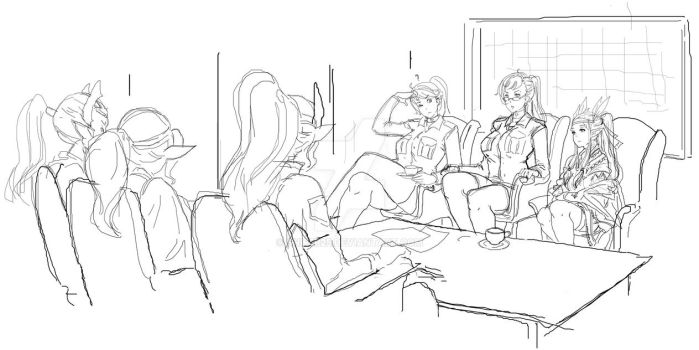 the 2nd meeting (sketch) by Snifer25
