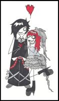 Goth Wedding Card commission by BS-designs