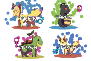 PKMNation: Treelawny x Pyre [CLOSED] by Rosbelle
