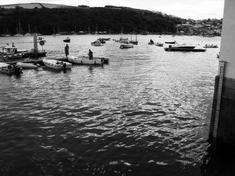 Day in the Harbour BW by RockstarManiac28009