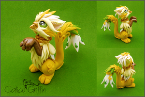 Kiro - the flower griffin by CalicoGriffin