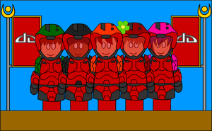Red Vs Blue dA Style:Red Team by CometComics