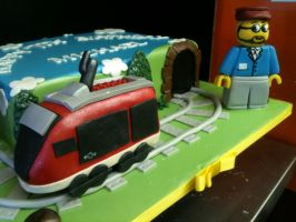 Lego Train close up by Spudnuts
