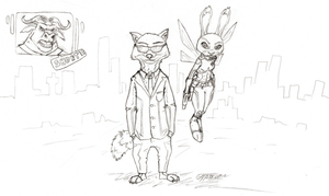 An Artemis Fowl and Zootopia mashup. by Skypercane
