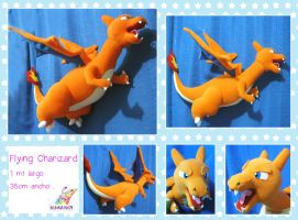 Flying Charizard plushie by chocoloverx3