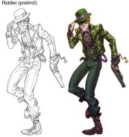 ArkhamCity Riddler2rough by Chuckdee