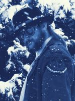 A Winter Past 25b Cyanotype by Windthin