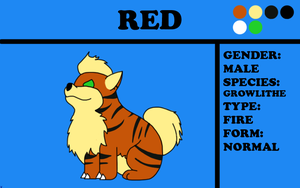 Red the Growlithe by TheChiefofTime