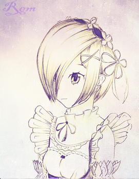 rem from re zero FA sketch by lilwarrior103