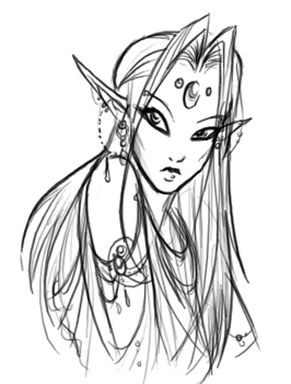 Elven Chick by BlizzardFire