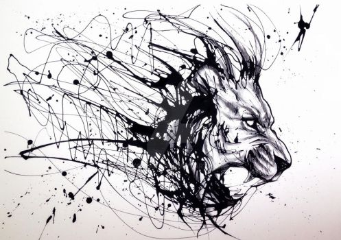 Drip Lion by Psyca-art