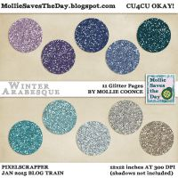 Winter Arabesque Glitter by Mollie-Coonce