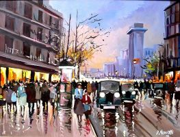 St. Denis Paris with cars by ricardomassucatto