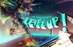 ILLUSTRATORS DEATHMATCH 2013 - LEVEL UP! by papelmarfil