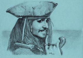 Captain Jack Sparrow by RolfRaven