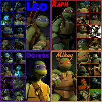 TMNT:: Bro: collage 2 by Culinary-Alchemist