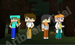 Minecraft: Hex Adventures- Main Cast COLORED by Wolfblade-Numbs
