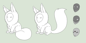 Original Lineart - Poof Of Fur Creature - Re-Done by Shadow-Bases