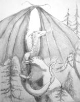 Smaug sketch 1 by trollmaiden