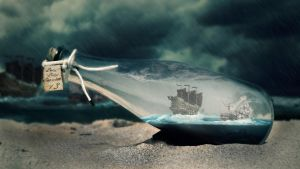 Ship in bottle v3 by balint4