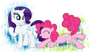 Rarity and Pinkie Pie by pinkcupcake17