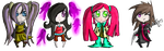 Assorted Chibi Girl Adoptables .::OPEN::. by StarryAdopts