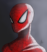 Spiderman - Portrait by issabissabel