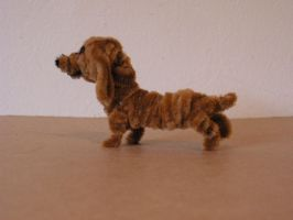 Dachshund by fuzzyfigureguy